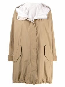 Brunello Cucinelli hooded rain coat - Neutrals