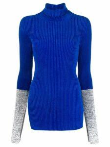 Moncler contrast cuff jumper - Blue
