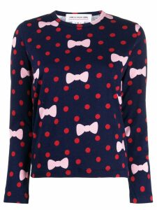 Comme Des Garçons Girl polka dot print sweater - Blue