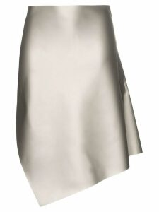 Coperni Motion cut-away slit skirt - Silver