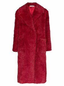 Vika Gazinskaya faux fur long coat - Red