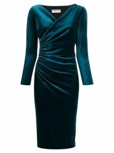 Le Petite Robe Di Chiara Boni velvet wrap style dress - Blue