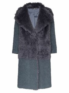 Vika Gazinskaya faux fur textured coat - Grey