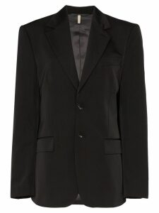 Sunflower oversized notched lapel blazer - Black