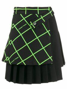 Off-White multipanel mini skirt - Black