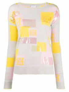Escada Sport sequin embroidery jumper - Grey