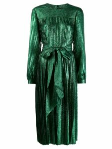 Marc Jacobs pleated lamé dress - Green