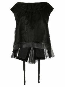 Shanshan Ruan layered trapeze top - Black