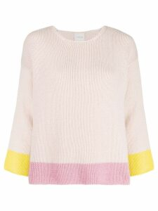 Fine Edge colour block sweater - Neutrals
