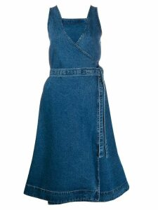 YMC tie-waist denim dress - Blue