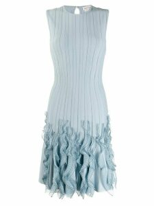 Alexander McQueen ruffled wave hem dress - Blue