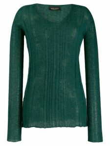 Roberto Collina ribbed knit sweater - Green