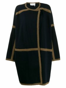 Chloé contrast trims oversized coat - Blue