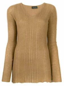 Roberto Collina rib knit sweater - Brown
