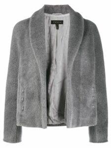 Escada oversized button-embellished jacket - Grey