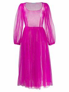 Molly Goddard Bronwyn tulle midi-dress - Pink