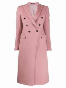 Tagliatore double breasted coat - Pink