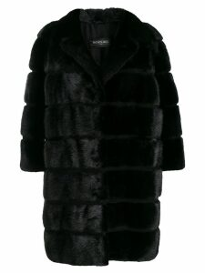 Simonetta Ravizza textured furry coat - Black