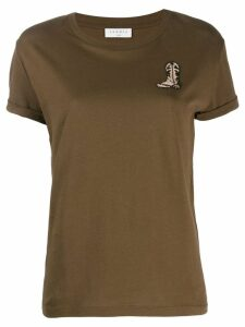 Sandro Paris embroidered T-shirt - Green