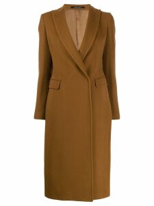 Tagliatore concealed front coat - Brown