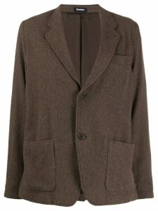 Plantation fitted single-breasted blazer - Brown