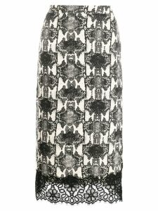 Essentiel Antwerp printed midi skirt - NEUTRALS