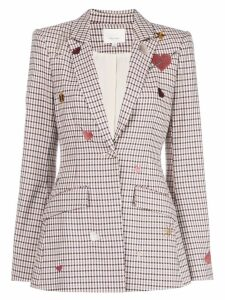 Cinq A Sept Estelle check blazer - Grey