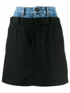 Sandro Paris layered denim skirt - Blue