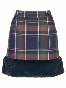 Nicole Miller Blueway plaid skirt