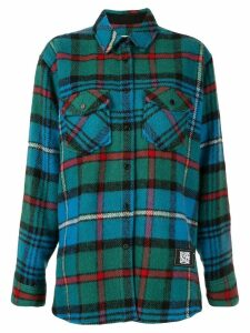We11done checked oversized shirt - Blue