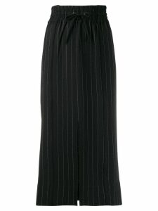 Ganni pin stripe drawstring skirt - Black