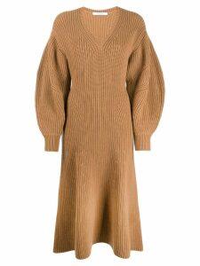 Givenchy v-neck jumper dress - Brown