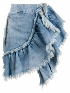 Diesel denim ruffled skirt - Blue