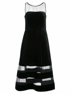 Aidan Mattox sheer stripes dress - Black