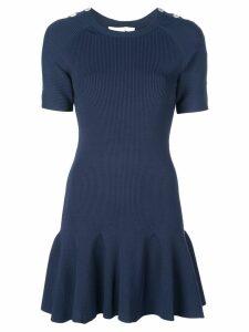 Jonathan Simkhai buttoned shoulder dress - Blue