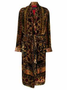 Etro carpet pattern belted coat - Neutrals