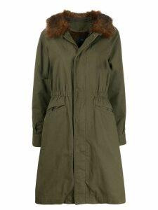 Steffen Schraut faux fur trimmed parka coat - Green