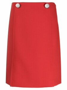 Prada buttoned front panel skirt - Red