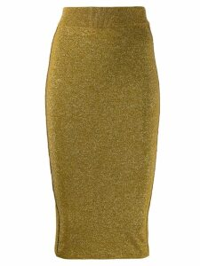 Forte Forte metallic finish knitted pencil skirt - Gold