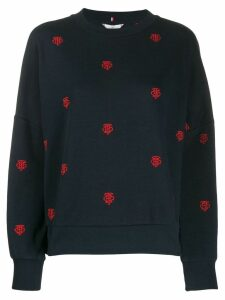 Tommy Hilfiger embroidered logo sweater - Blue