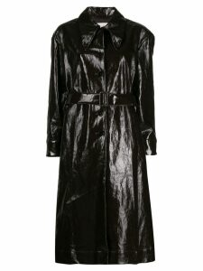 Lemaire belted patent leather effect trench - Brown