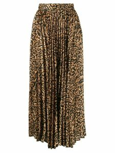 Andamane leopard print pleated skirt - Yellow