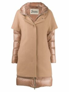 Herno contrast panel padded coat - Neutrals