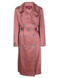 Sies Marjan Sigourney satin trench coat - PINK
