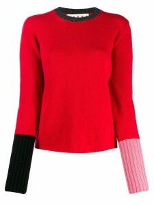 Marni colour block jumper - Red