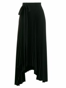 A.W.A.K.E. Mode asymmetric pleated skirt - Black