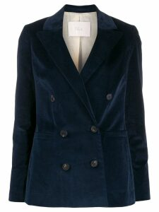 Tela double-breasted fitted blazer - Blue