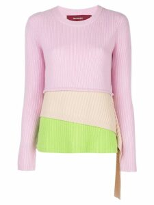 Sies Marjan layered colour block jumper - Pink