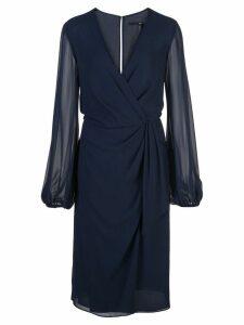 Jay Godfrey wrap style midi dress - Blue