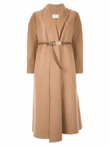 Onefifteen belted midi coat - Brown